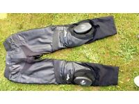 Ladies furygan leather trousers