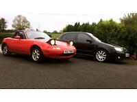 2 cars, mx5 eunos , Hyundai Getz long MOT