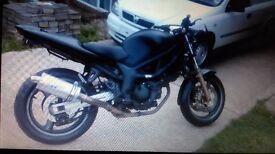 Sv650s streetfighter 2001 long mot sale or swap for sports bike