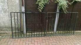 Heavy duty iron gates.