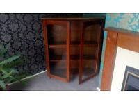 Lovely glass fronted bookcase