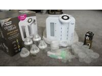 Tommee Tippee Closer to Nature Perfect Prep Machine, filter, bottles and powder storage tubs