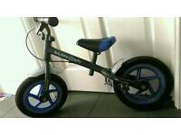 "Balance bike, blue, 12"" wheels, £20"