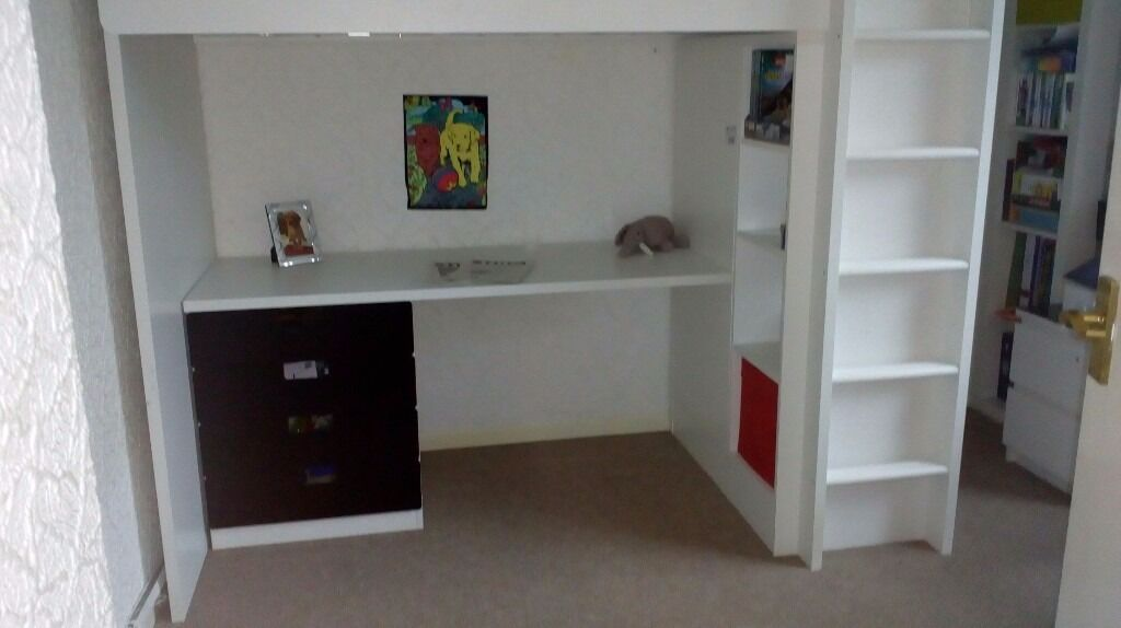 Ikea Stuva Loft Bed With Desk Wardrobe Shelves And Drawers