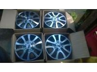 "Brand new and boxed - ford 15"" diamond cut alloy wheels"