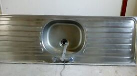 Stainless Kitchen Sink and Taps