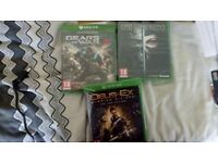 Xbox one games. Gears of war Deus ex dishonored 2