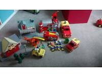 Large collection of Fireman Sam and Postman Pat Toys