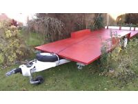 TWIN AXLE FLATBED TRAILER LARGE