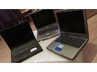 JOBLOT of three Laptops £45