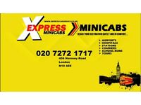 Pco Licensed Minicab Drivers Wanted North london 7 DAY FREE SHIFT ** 1 WEEK FREE RENT