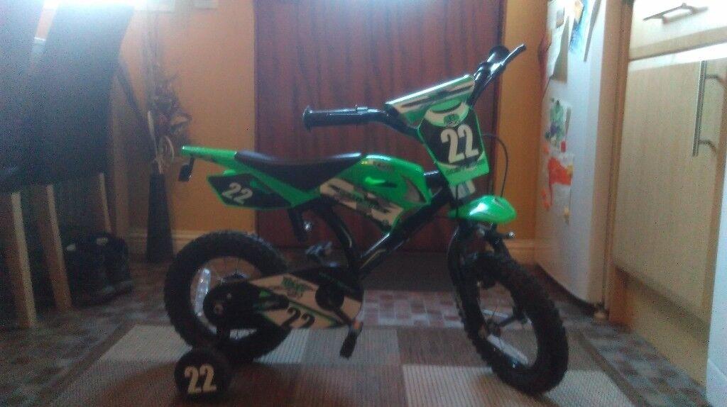 "Boys motobike style 12"" wheels"