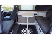Vw T5 2009 campervan T26 Rib bed and Evo Designs bespoke layout 140bhp