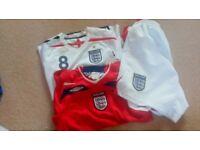 Boys England shirts and shorts set