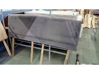 Super King Velour Grey Headboard - Delivery Available