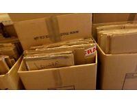 PACKING BOXES & BUBBLE WRAP