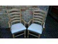 2 x brand new wooden chairs