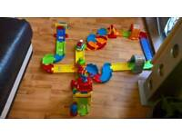 Vtech toot toot drivers train station with train and construction vehicle