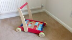 ELC push along with wooden blocks