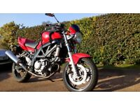SUZUKI SV 650 `NAKED`IN RED.2006.SUPERB CONDITION & LOW MILEAGE