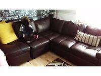 Brown corner sofa bed