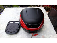 Renntec Motorcycle / Motorbike Topbox Top box luggage with base-plate (similar to Givi)