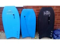 3 Bodyboards for sale.