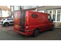 2002 FORD TRANSIT 280 SWB TD, VERY CLEAN, CUSTOM PAINT AND PLYLINED