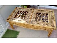 Cane conservatory coffee table