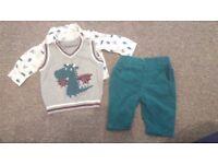 Newborn baby boy clothing bundle 19 items