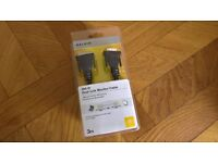 BRAND NEW BELKIN DVI-D DUAL-LINK MONITOR CABLE 3M FOR PC SCREEN MONITOR