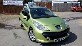 LOW MILEAGE PEUGEOT 207 & SOLD WITH NEW MOT AND WARRANTY ON PURCHASE