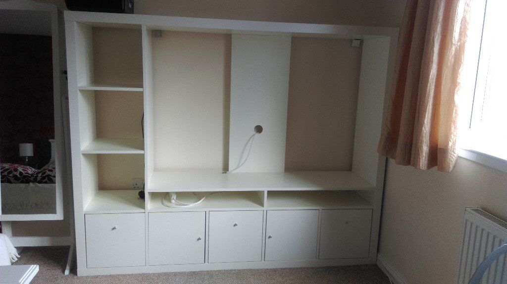 Ikea Lappland Tv Storage Unit In White With 3 Base Drawers