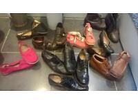 Mixture of men's and women's shoes