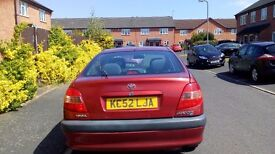 Toyota Avensis, Diesel, 02 plate, Automatic; with Air con, Sat nav, reliable clean car.