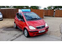 VERY LOW MILEAGE MERCEDES A140 & SOLD WITH NEW MOT AND WARRANTY ON PURCHASE