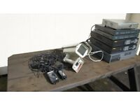 Job Lot of 6 x DVR's and some leads and one security camera enclosure.