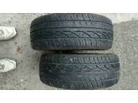 For sale four good tyres plus good petrol battery
