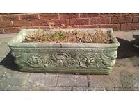 Concrete garden trough