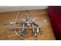 Good quality traditional shower mixer and bath taps