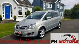 Immaculate 2010 Vauxhall Zafira 1.8 Sri - only 54k miles! 7 seater + finance available