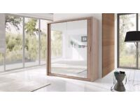 ORDER-==NOW FULLY MIRRORED TWO DOOR SLIDING DOOR WARDROBE BRAND NEW WE DO SAME OR NEXT DAY DELIVERY