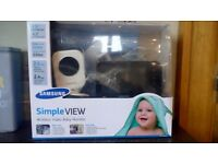 Samsung simple view wireless video baby monitor for sale