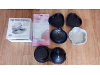 Cake decorating equipment cutters moulds turntable moulds tins job lot bargain