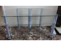 Glass TV stand. 3 levels. Thick glass. Excellent condition. FREE.
