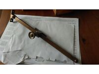 "B.M.A. 10"" solid bronze antique sliding casement window stays"