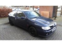 Renault megane 2.0 16v coupe, Black Leathers, MOT Until feb 2018 With No Advisories