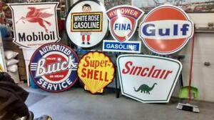 BIG GASOILINE AND OIL SIGNS  FOR  CHRISTMAS