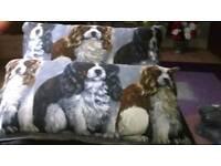 Brand new handmade spaniel dog cushions rectangel x2
