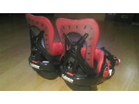 Women's Salomon Providence Snowboard Bindings, Small, Red/Black, 2015